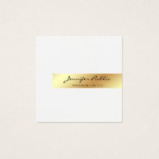 Tarjeta De Visita Cuadrada Cree su propio oro blanco elegante moderno Smart