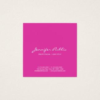 Tarjeta De Visita Cuadrada Cree su propio simple rosado elegante moderno