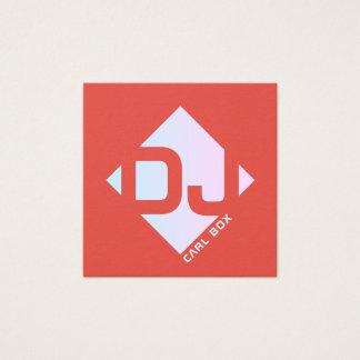 Tarjeta De Visita Cuadrada Cubierta intrépida geométrica romboidal