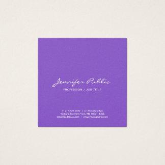 Tarjeta De Visita Cuadrada De lujo violeta elegante moderno profesional
