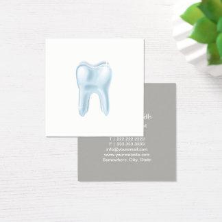 Tarjeta De Visita Cuadrada Dentista dental del Minimalist del diente 3D