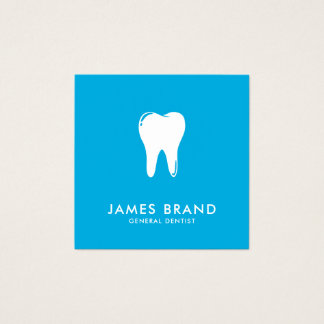 Tarjeta De Visita Cuadrada Dentista moderno