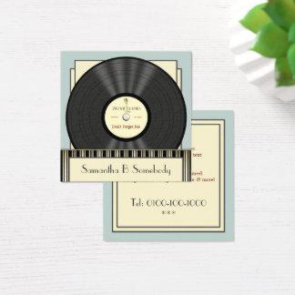 Tarjeta De Visita Cuadrada Disco de vinilo de la obra clásica del vintage