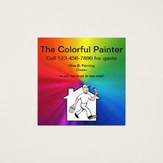 Tarjeta De Visita Cuadrada Diseño simple del pintor profesional