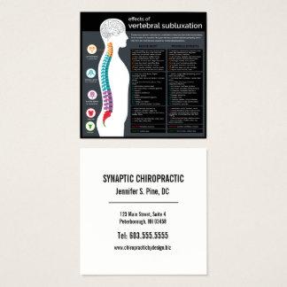 Tarjeta De Visita Cuadrada Efectos del Chiropractor vertebral del Subluxation