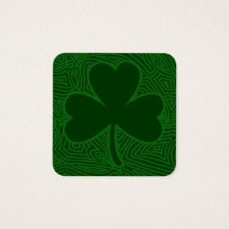 Tarjeta De Visita Cuadrada El día de St Patrick del trébol