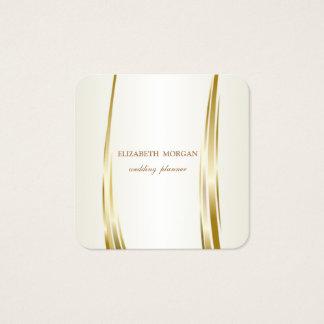 Tarjeta De Visita Cuadrada Elegante de lujo elegante, oro