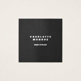 Tarjeta De Visita Cuadrada Elegante gris profesional minimalista moderno de
