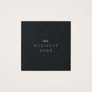 Tarjeta De Visita Cuadrada Élégante minimalista moderno profesional Noir