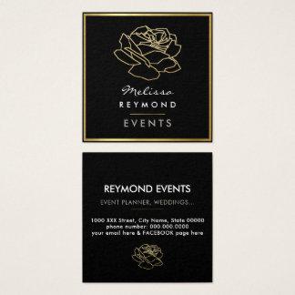 Tarjeta De Visita Cuadrada flor color de rosa resumida, acontecimientos