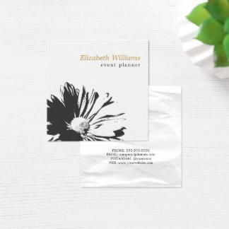 Tarjeta De Visita Cuadrada Florista blanco elegante moderno del estampado de
