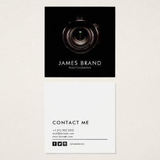 Tarjeta De Visita Cuadrada Fotografía blanco y negro minimalista