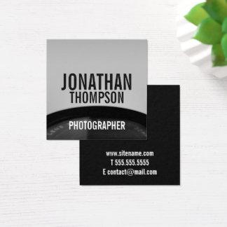Tarjeta De Visita Cuadrada Fotografía blanco y negro profesional