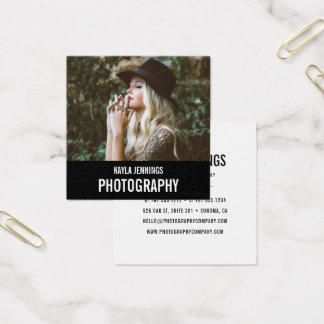 Tarjeta De Visita Cuadrada Fotógrafo moderno de la impresión el  