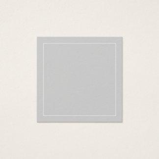 Tarjeta De Visita Cuadrada Gris del espacio en blanco con la frontera blanca
