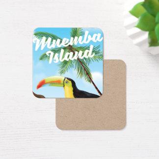 Tarjeta De Visita Cuadrada Isla de Mnemba