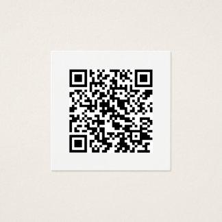 Tarjeta De Visita Cuadrada Medios sociales mínimos del código de QR modernos