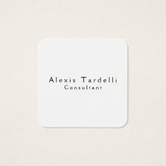 Tarjeta De Visita Cuadrada Moda profesional moderna minimalista negra y