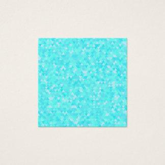 Tarjeta De Visita Cuadrada Modelo azul del triángulo del abstact