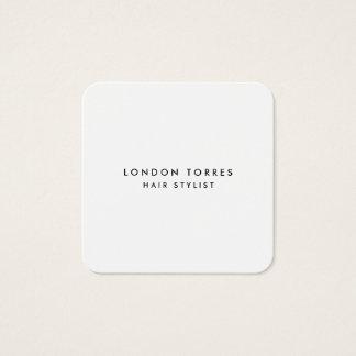 Tarjeta De Visita Cuadrada Negro de moda minimalista cuadrado moderno y