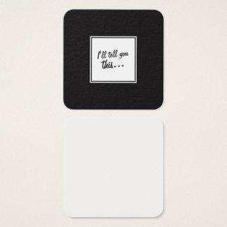 Tarjeta De Visita Cuadrada Notas de la casilla blanca negra y para dejar los