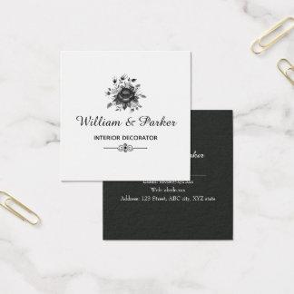 Tarjeta De Visita Cuadrada Oro y sombras elegantes del gris