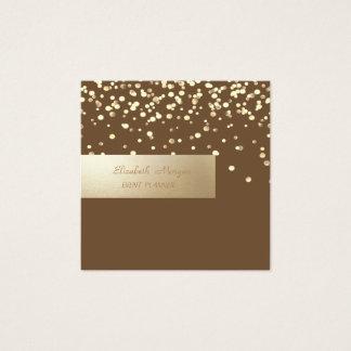 Tarjeta De Visita Cuadrada Profesional elegante, moderno, confeti