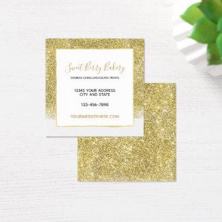 Tarjeta De Visita Cuadrada Purpurina glamoroso del oro falso