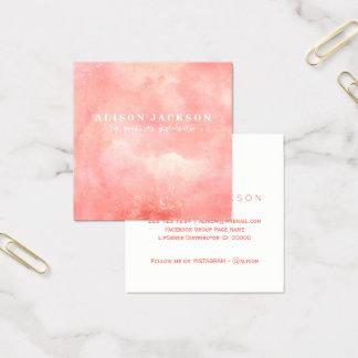 Tarjeta De Visita Cuadrada Se ruboriza el distribuidor rosado del producto