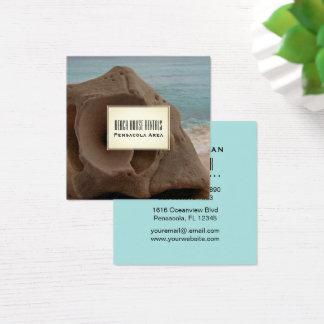 Tarjeta De Visita Cuadrada Seashell tropical de los alquileres de la casa de