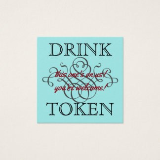 Tarjeta De Visita Cuadrada Símbolo de la bebida