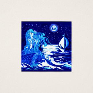 Tarjeta De Visita Cuadrada Sirena y marinero