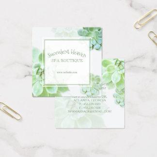 Tarjeta De Visita Cuadrada Succulent elegante lindo