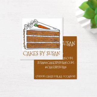 Tarjeta De Visita Cuadrada Tortas por los pasteles de la panadería de la