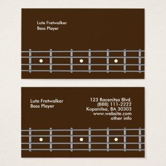 Tarjeta De Visita Cuello de la guitarra baja de la plantilla de las