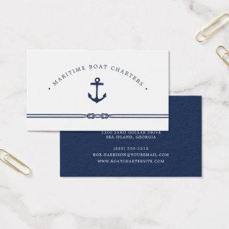 Tarjeta De Visita Cuerda y ancla náuticas