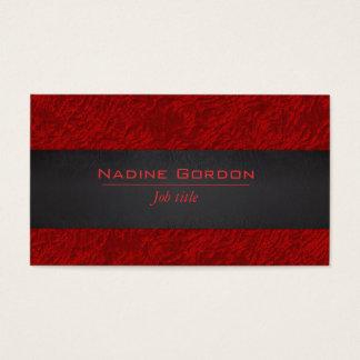 Tarjeta De Visita Cuero de color rojo oscuro y negro