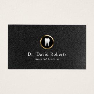 Tarjeta De Visita Cuero de la cita y dentista dentales del mármol