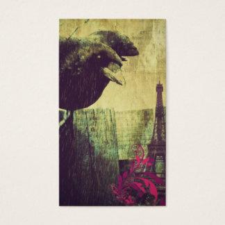 Tarjeta De Visita Cuervo fantasmagórico del cuervo de Halloween de
