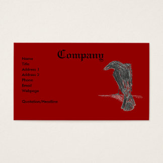 Tarjeta De Visita Cuervo/impresión insanos