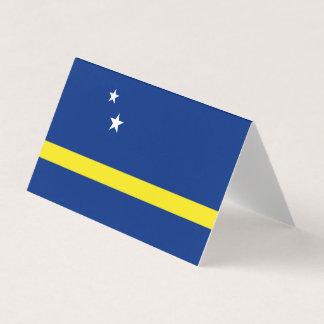 Tarjeta De Visita Curaçao señala por medio de una bandera