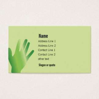 Tarjeta de visita curativa de las manos