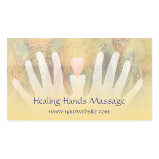 Tarjeta de visita curativa del masaje de las manos