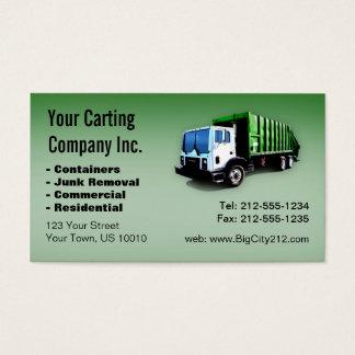 Tarjeta De Visita CUSTOMIZABLE Garbage Truck Carting Company
