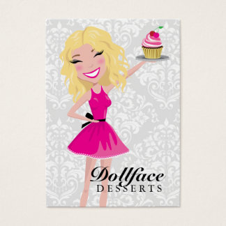 Tarjeta De Visita Damasco 3,5 x 2 de Blondie de 311 postres de