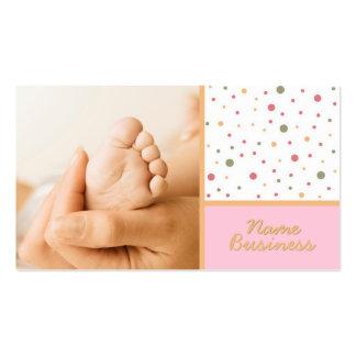 Tarjeta de visita de 5 dedos del pie