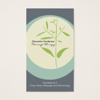Tarjeta de visita de bambú de la terapia del