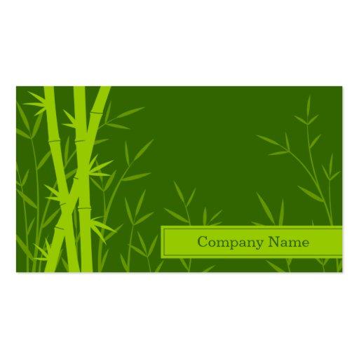 Tarjeta de visita de bambú del fondo