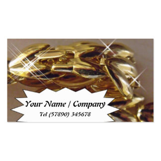 Tarjeta de visita de cadena del oro