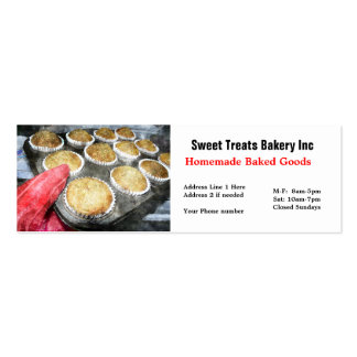 Tarjeta de visita de Cupcake Bakery Company
